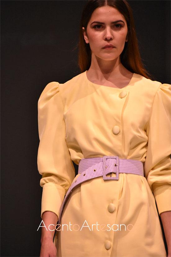 Mangas abullonada en estilismo vainilla de Rocío Ballesteros