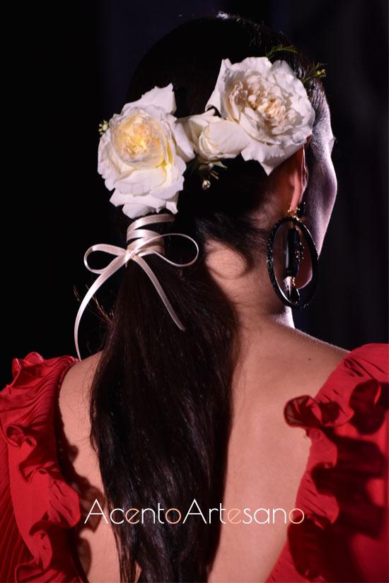 Peinado de El Ajolí para las flamencas 2020