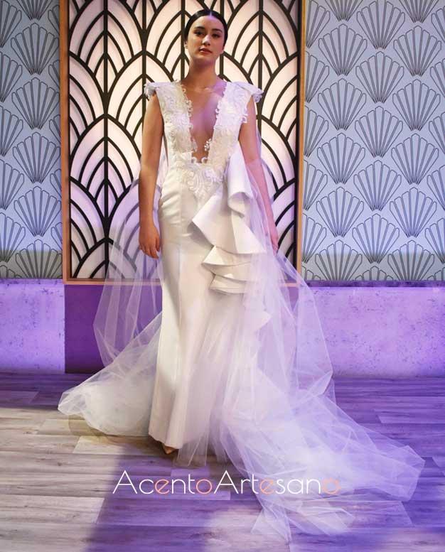 Vestido de novia del equipo verde, Joaquín, en el programa 6 de Aguja Flamenca