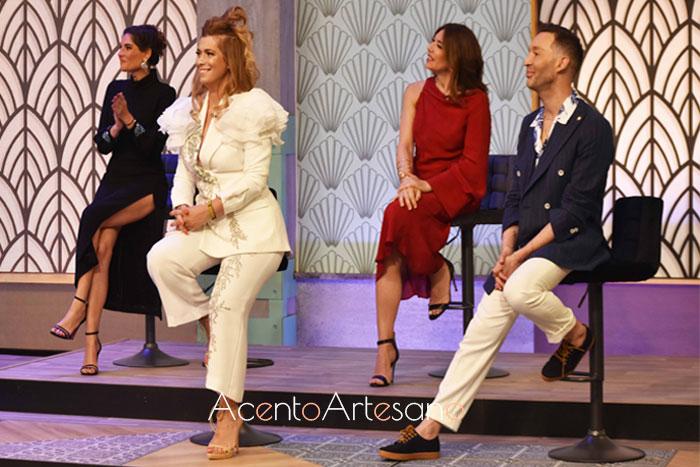 Jurando de Aguja Flamenca en el programa cinco: Juana Martín, Cristo Báñez, Lourdes Montes y Raquel Revuelta.