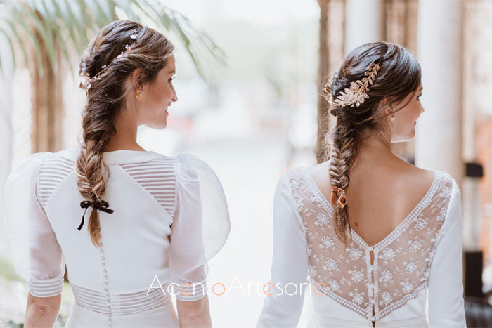Trenzas de sirena para novias de Víctor del Valle