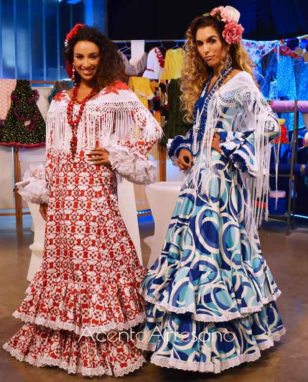 Trajes de flamenca setenteros de Pilar Vera