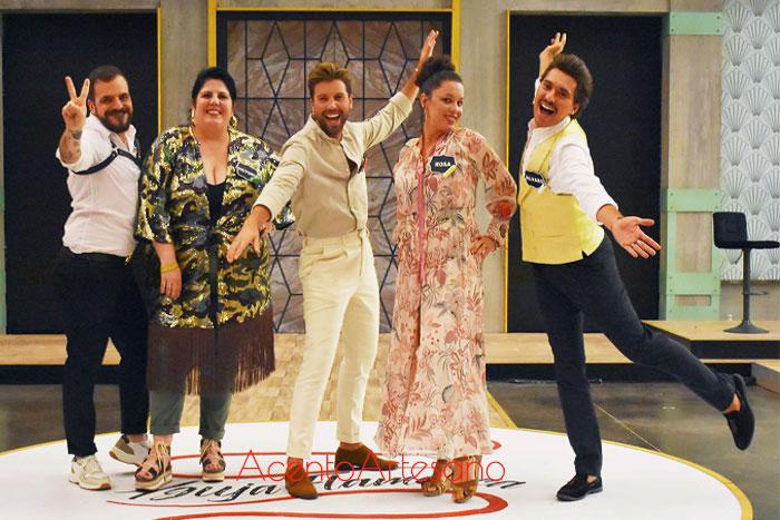 Manuel, Victoria, Juanma, Rosa y Álvaro, finalistas de Aguja Flamenca