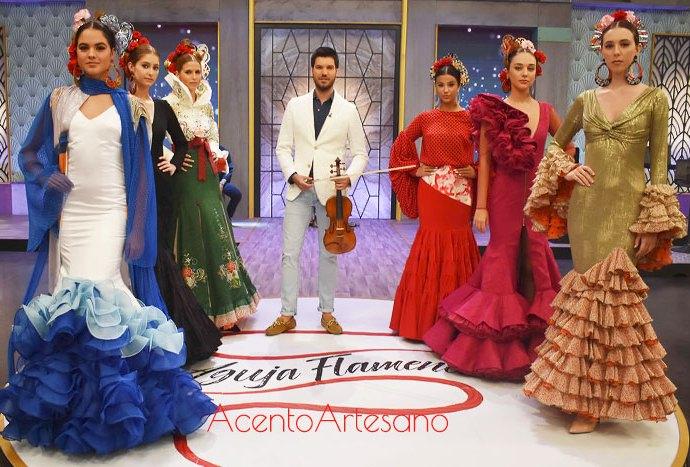 Ángeles Verano, José Galváñ, Qlamenco y Mof&Art en la semifinal de Aguja Flamenca