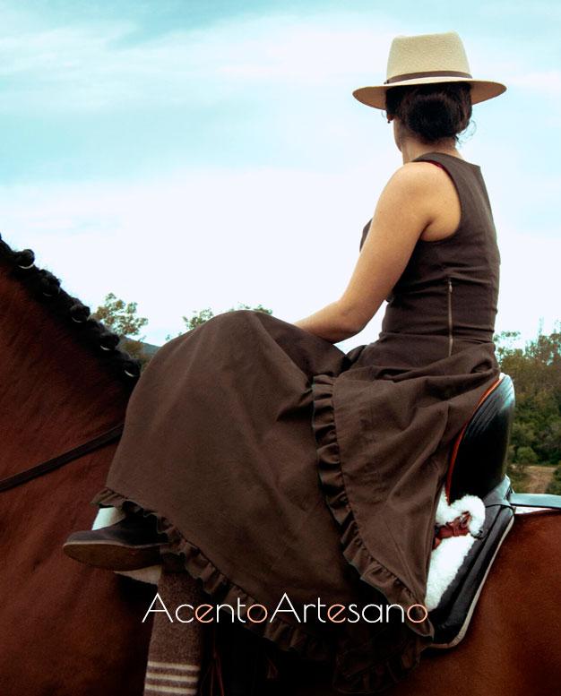 Vestido de amazona al bies de Alejandro Andana