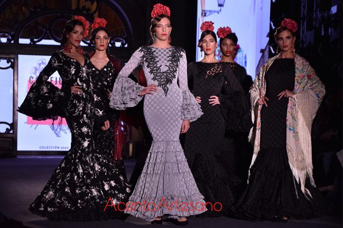 Mini colección en negro de Callejuela de la O de Carmen Acedo en We Love Flamenco