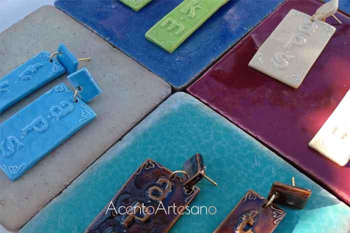 Pendientes de cerámica en Gran Soho Alameda