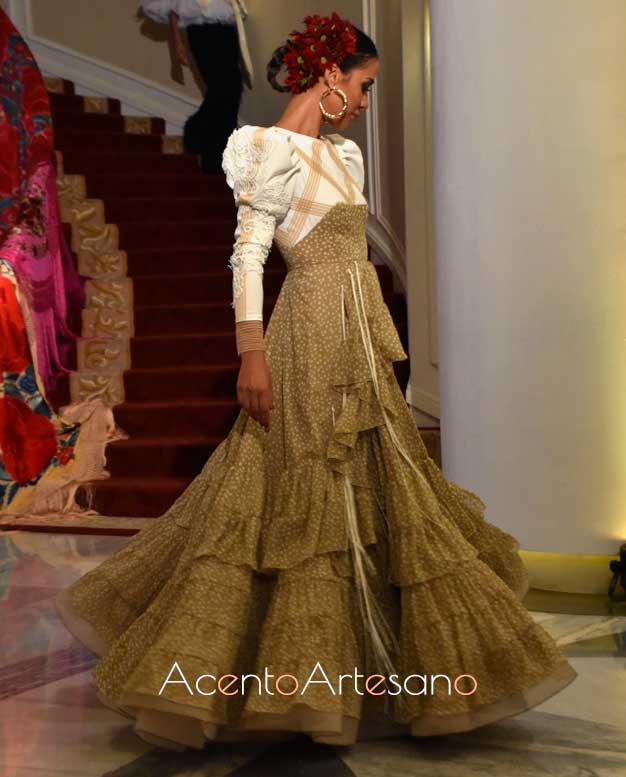 Traje de flamenca de Adelina Infante en Qlamenco