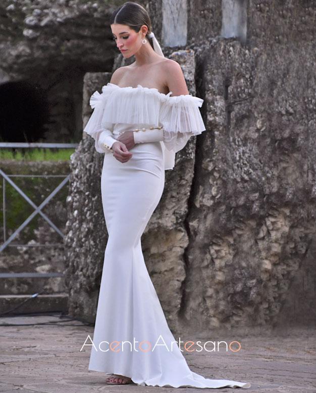 Vestido de novia palabra de honor y silueta sirena de Nicolás Montenegro en Code 41 Trending