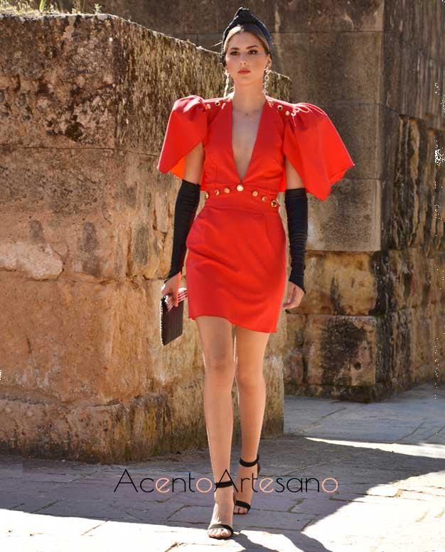 Vestido rojo mini de Mona