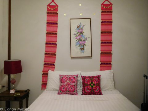 泊めてもらった部屋。とてもきれい!