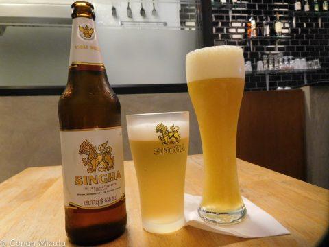 シンハービールとマンゴービール