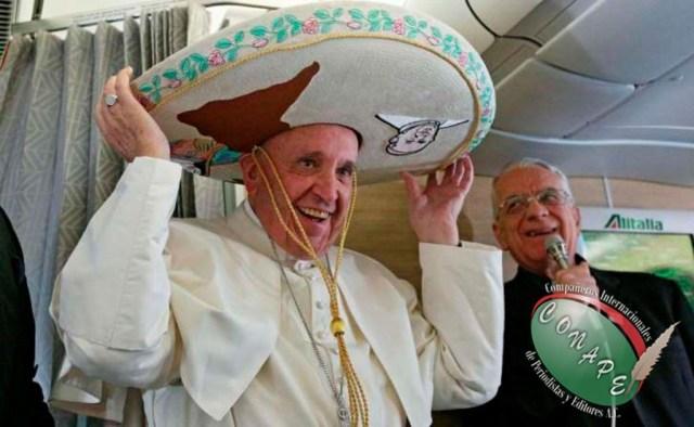 El sombrero charro que porta el Papa Francisco 2