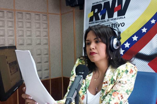 Mary Olga Paz, comunicadora social de Radio Nacional de Venezuela (RNV)