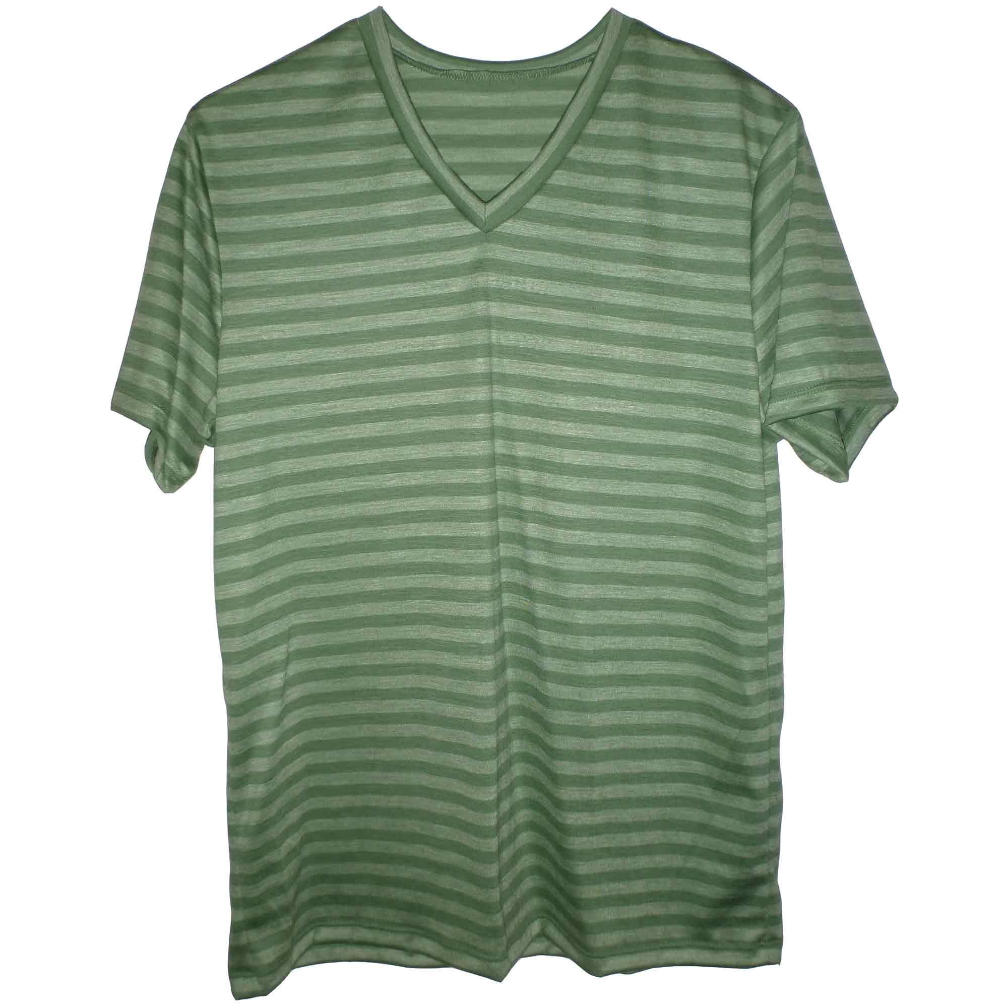 Green merino v-neck