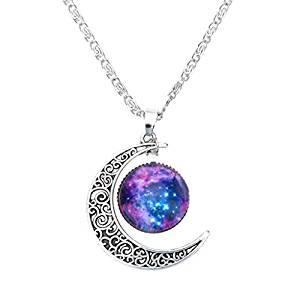 Collar Cadena Ajustable Colgante Luna Creciente 1