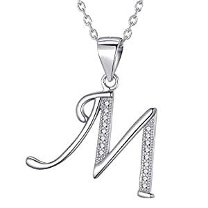 cadena de plata con iniciales