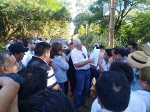 El Ministro estuvo por el departamento de Concepción