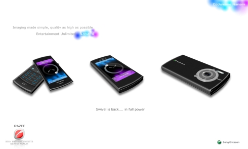 Sony Ericsson Nanami Finished Design, a Swivel Smartphone