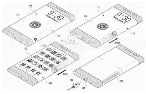 Samsung Three Sided Smartphone Prototype Sketch Looks