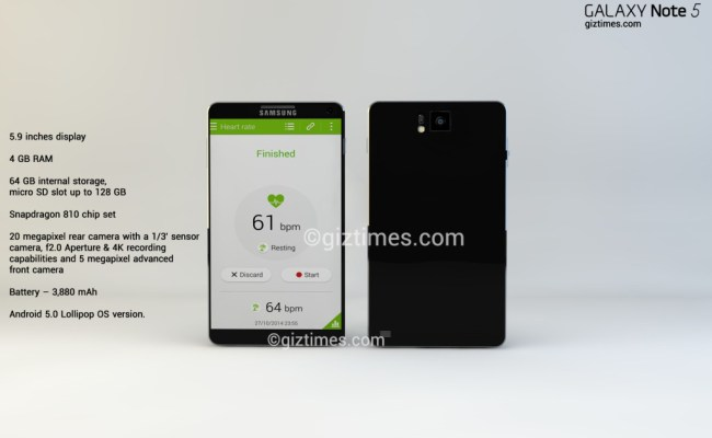 Samsung Galaxy Note 5 Imagined Yet Again By Giztimes