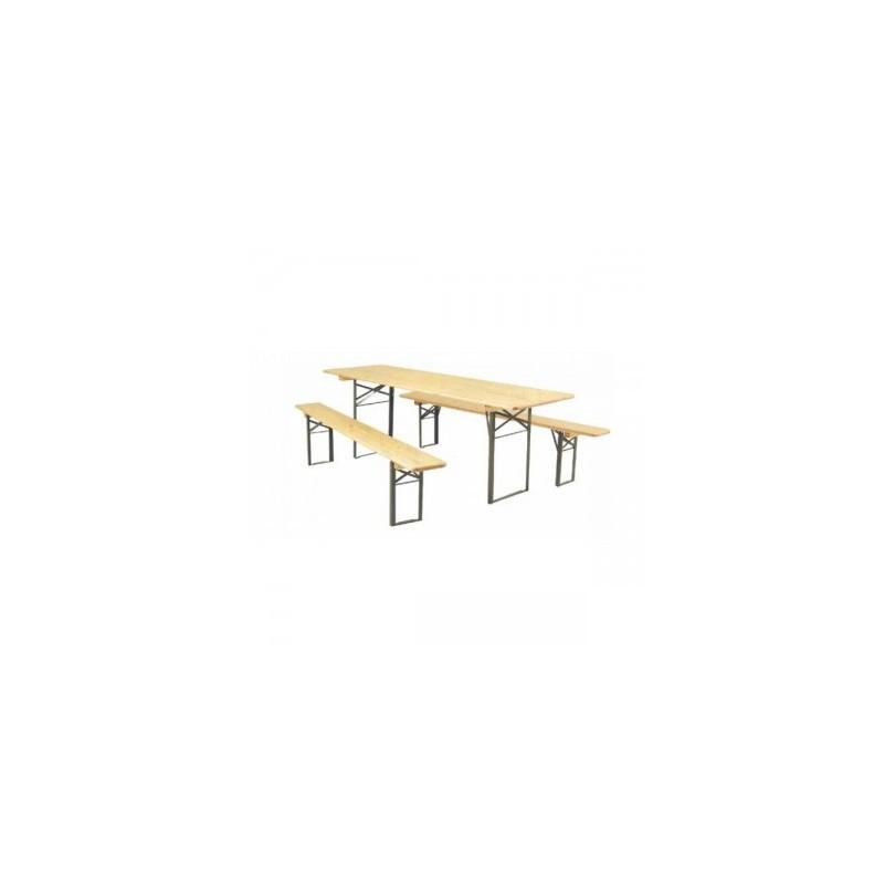 table en bois pliante 8 personnes concept reception