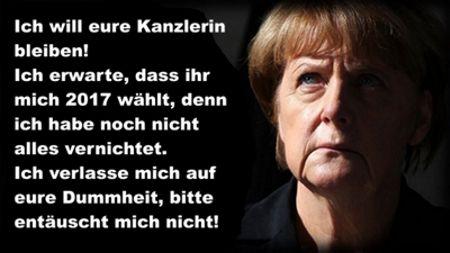 Merkel ich will euch vernichten