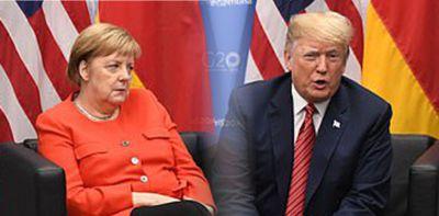 Von Trump in Buenos Aires vorgeführt, Merkel schaut in verachtend an
