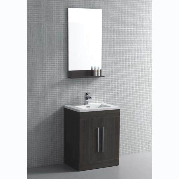 "24"" bathroom vanity set grey oak tn-tm600-go on conceptbaths"
