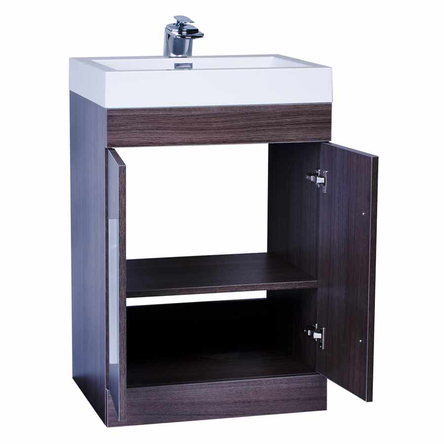 24 Bathroom Vanity Set Grey Oak TNTM600GO on