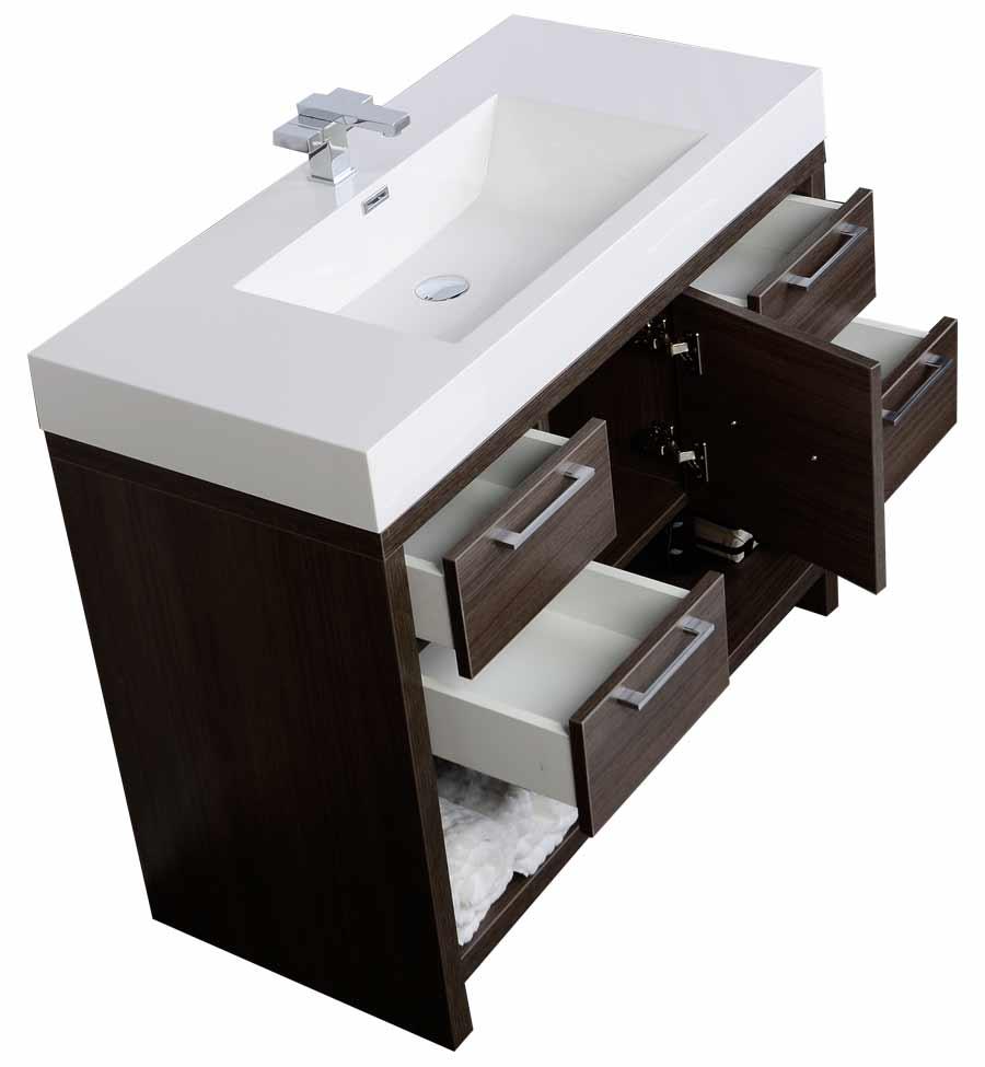 40 Modern Bathroom Vanity Set with Grey Oak Finish TN