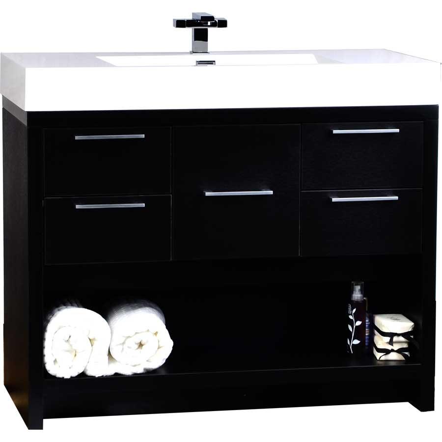 40 Inch Modern Bathroom Vanity Set in Black TNL1000BK