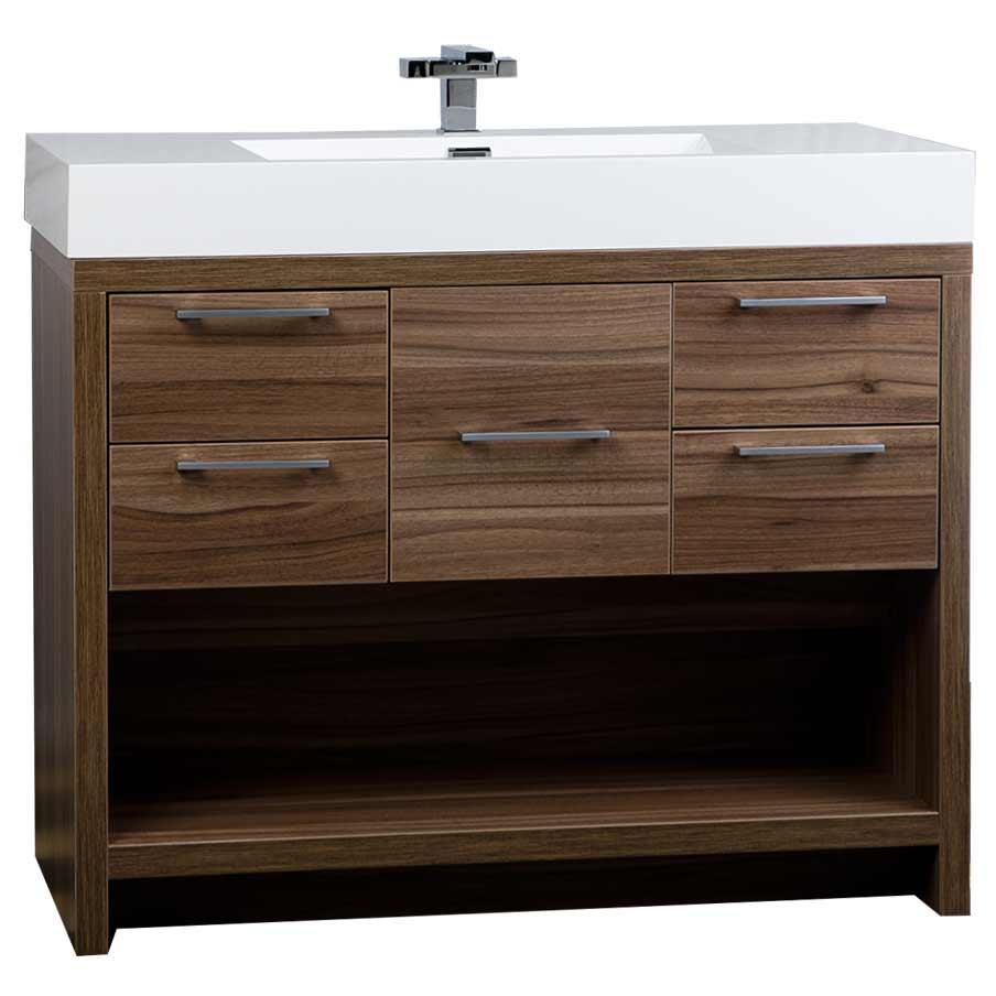40 Modern Bathroom Vanity Set with Walnut Finish TNL1000