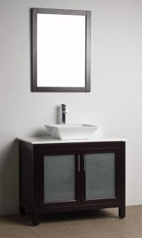 Bathroom Vanity Solid Wood Espresso WH-0908-5 ...