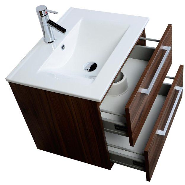 """european styled caen 23.5"""" single bathroom vanity set in oak rs"""