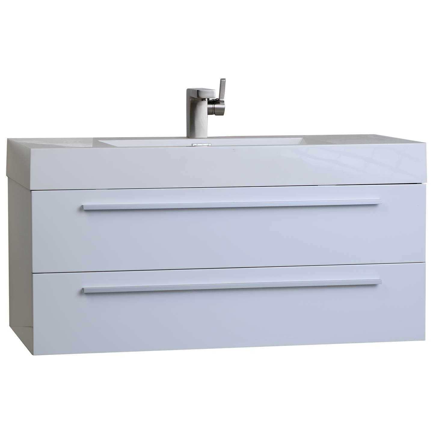 Buy 39 25 In Wall Mount Contemporary Bathroom Vanity High Gloss White Tn T1000 Hgw On Conceptbaths Com