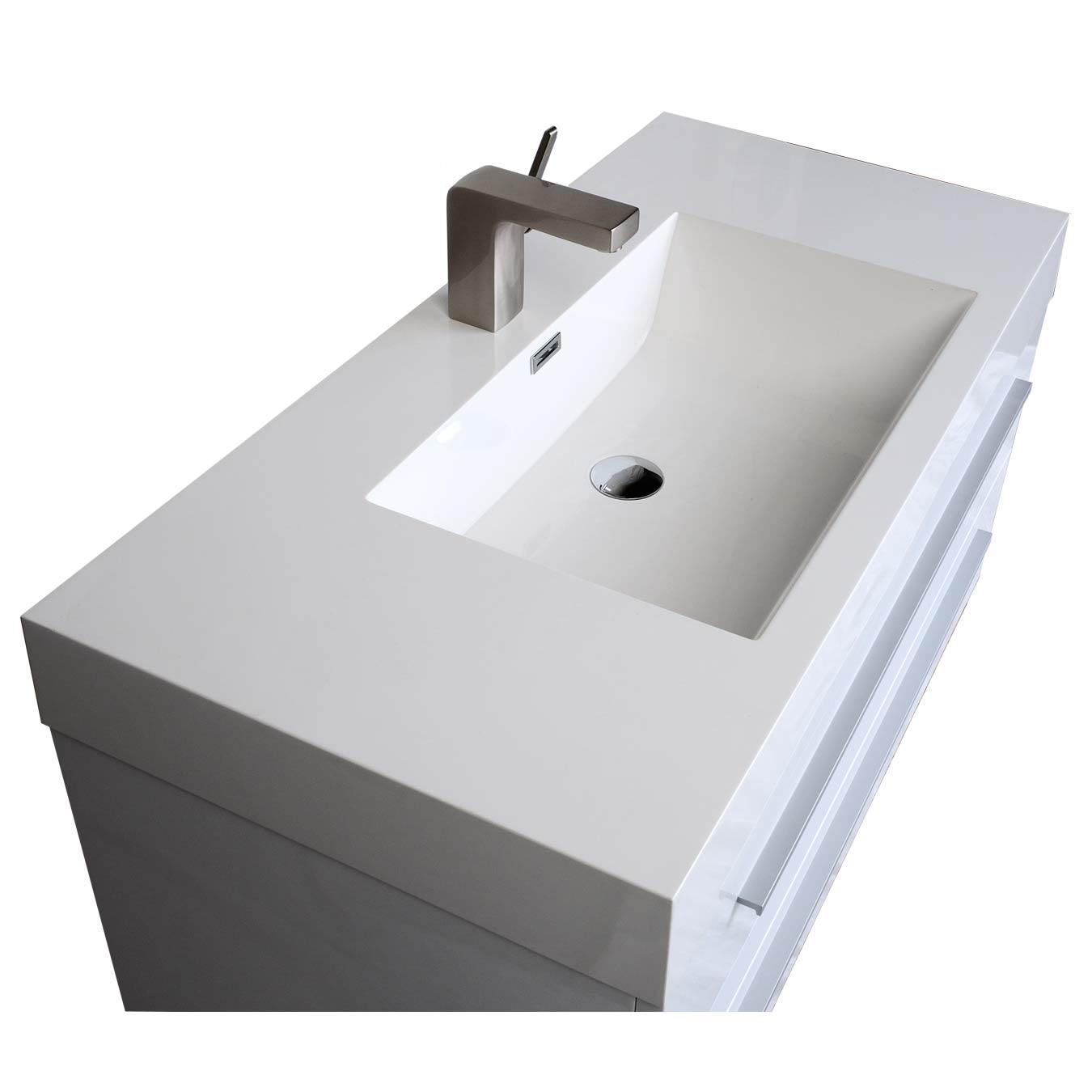Buy 3925 In WallMount Contemporary Bathroom Vanity High