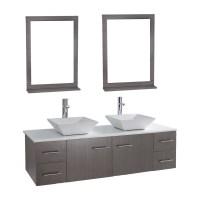 "Siena Solid Wood 71"" Wall-mounted Double Bathroom Vanity ..."