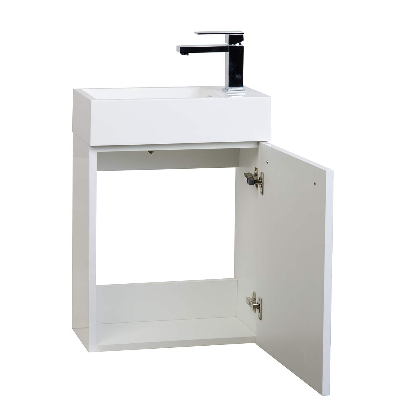 Buy 18 Inch Bathroom Vanity Set Glossy White TNT460HGW