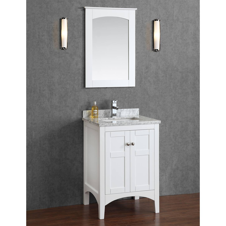 Buy Martin 24 Solid Wood Single Bathroom Vanity in White