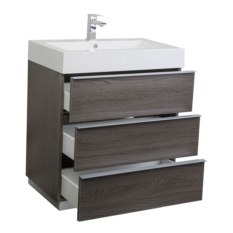 Buy 2925 Single Bathroom Vanity Set in OAK Optional Mirror RSL750OAK  Conceptbathscom