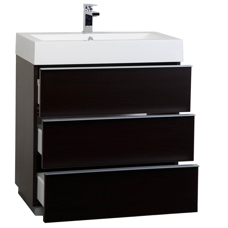 Buy 2925 Single Bathroom Vanity Set in Espresso Optional Mirror RSL750WG  Conceptbathscom