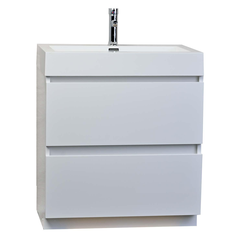 295 Contemporary Bathroom Vanity Black TNLY750BK
