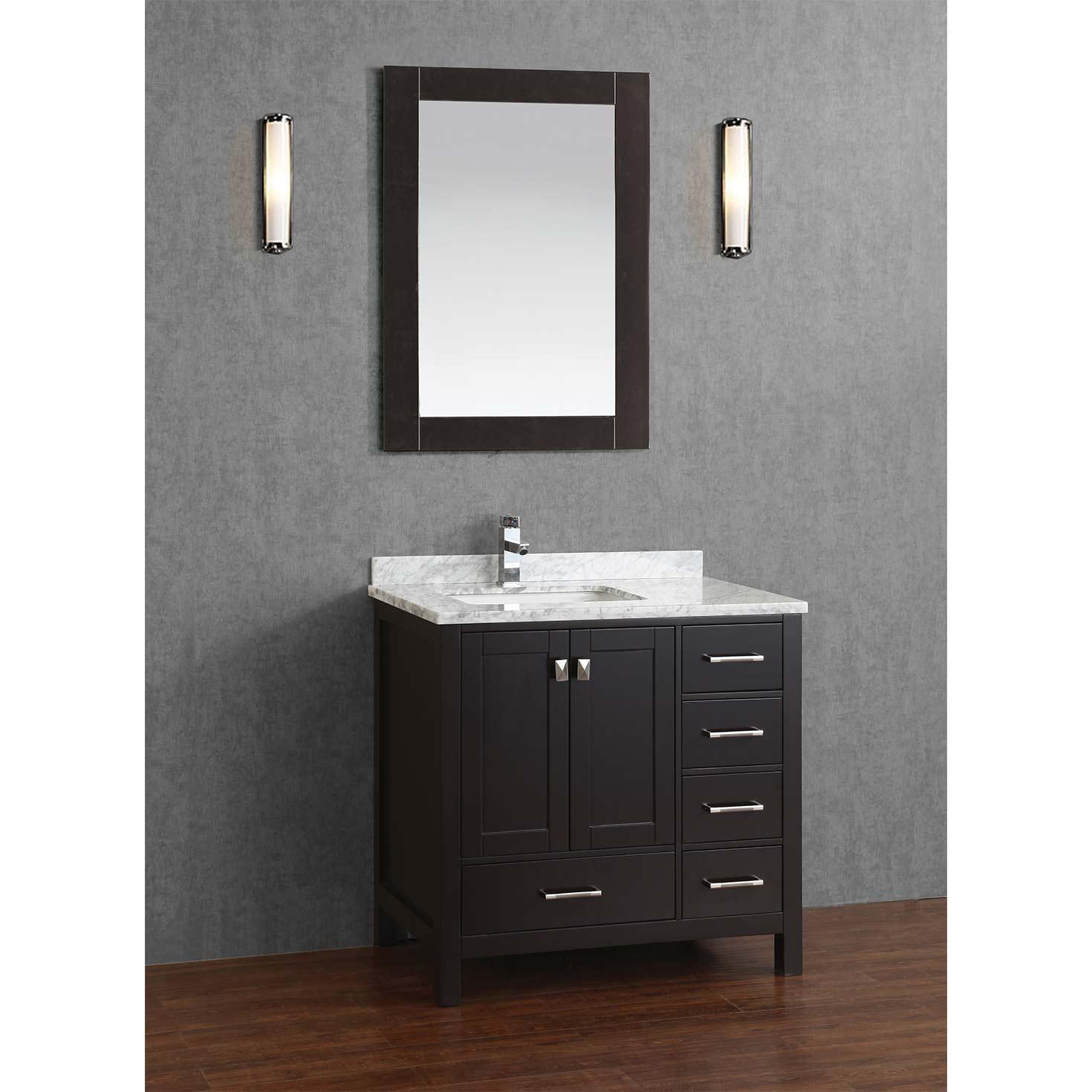 Bathroom Vanities 36 cabernet weathered oak bathroom