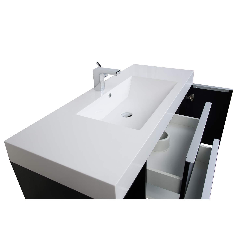 4725 Wall Mount Contemporary Bathroom Vanity Black RS