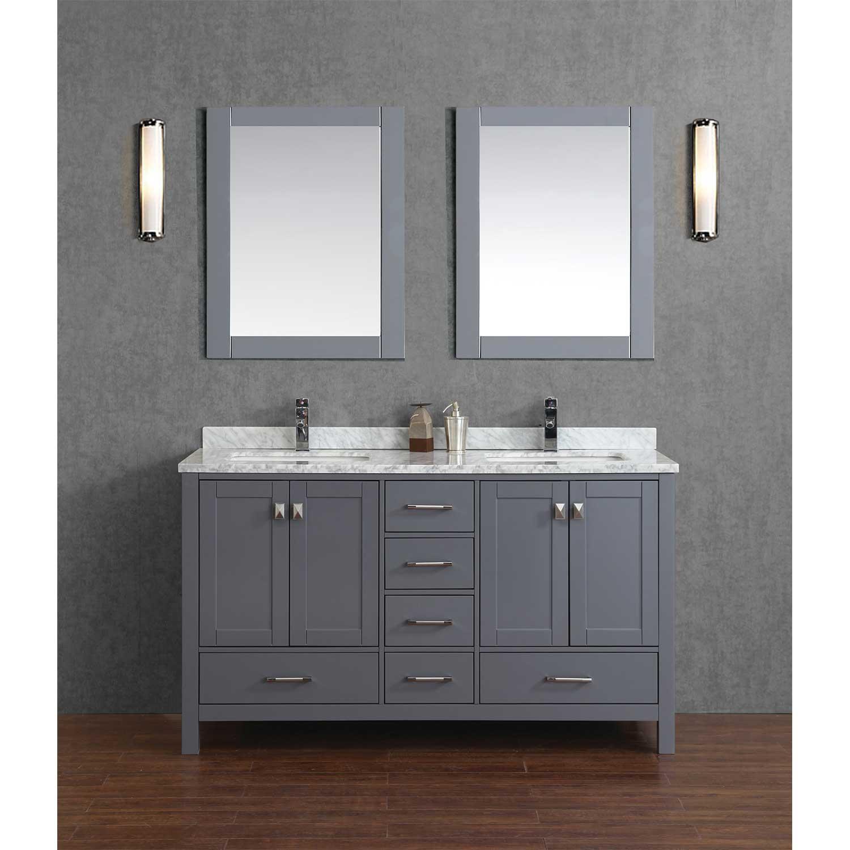 Buy Vincent 60 Solid Wood Double Bathroom Vanity in