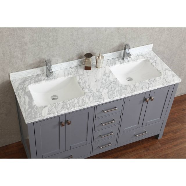 Buy Vincent 72 Inch Solid Wood Double Bathroom Vanity in Charcoal