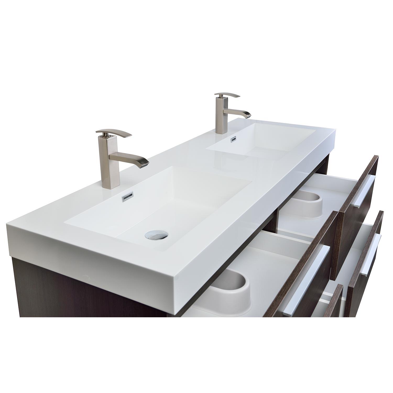 54 modern double sink vanity set with drawers grey oak tn b1380 go