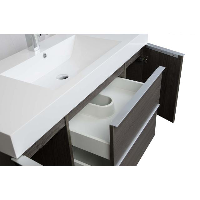 Buy 47 25 Inch Wall Mount Contemporary Bathroom Vanity Light Oak