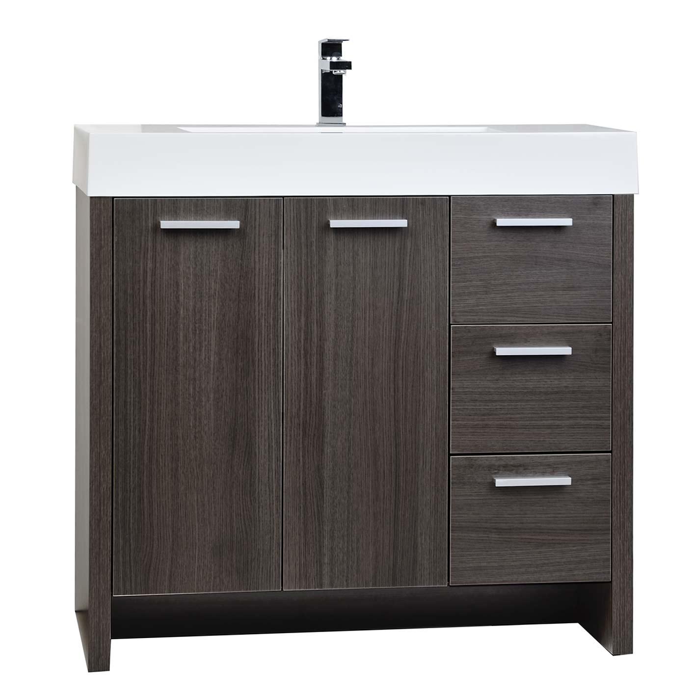 Buy 355 Modern Bathroom Vanity Grey Oak Finish TNLY900